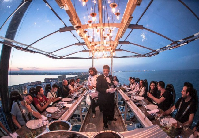 Dinner in the Sky arrives in Rome: in September the famous dinners in the clouds
