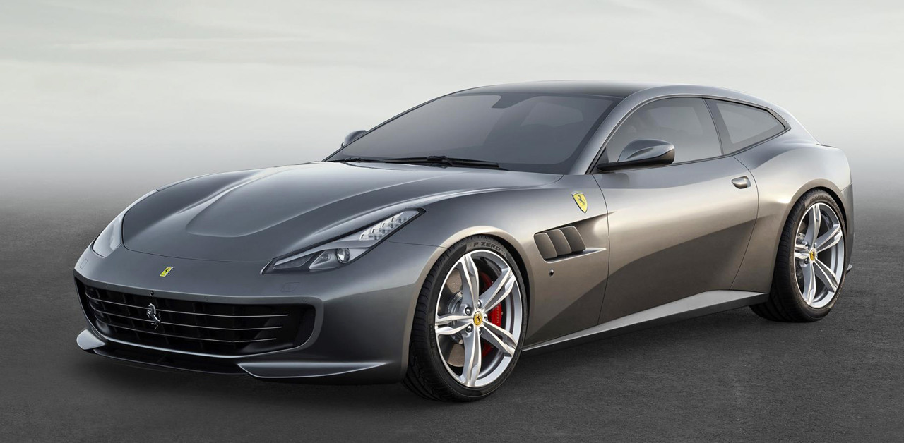 GTC4 Luxury Ferrari, with four-wheel steering wheel