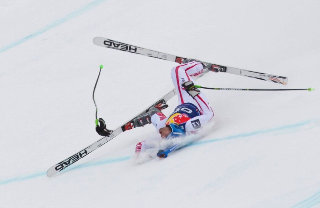 A fall again on the Streif: serious injury to Scheiber