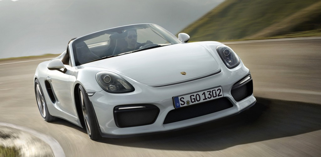 The new Porsche 718 Boxster runs more with the four-cylinder