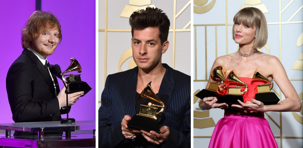 Grammy Awards 2016, triumph in 3 to Taylor Swift, Ed Sheeran and Mark Ronson