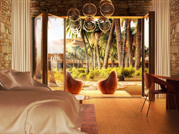 A resort in the desert, romantic and eco-friendly