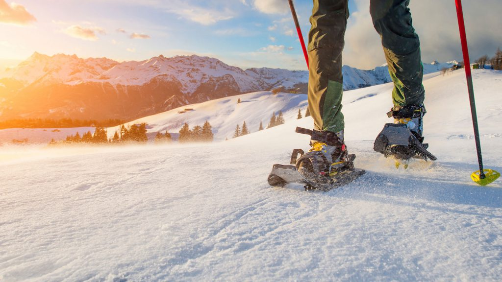 Snowshoeing and night-time skiing in the valley of events