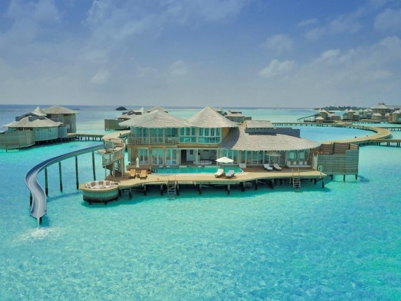 Dream Trips The Maldives Resort With The Slide To Dive Into